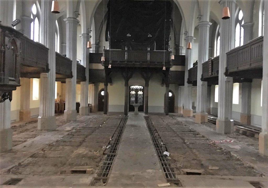 Friedenskirche ohne Fußboden